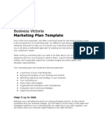 Business Victoria Marketing Plan Template