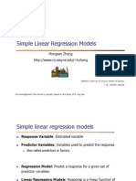 11 - Simple Linear Regression Models