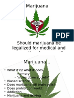 TOK presentation 2009- Legalization of Marijuana