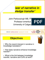 John Parboosingh - The Power of Narrative in Knowledge Transfer