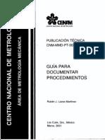 Guia Para Documentar Procedimientos CENAM