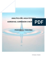 Analitica Del Agua Potable. Agresividad Corrosion e Incrustaciones