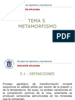 Tema 5 - Metamorfismo