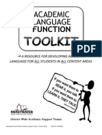 Academic Language Functions Toolkit