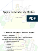 Writing Minutes of a Meeting