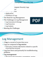 Log management presentation.