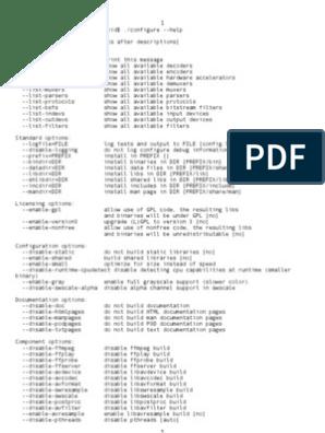 FFmpeg-Configure-Options pdf | Program Optimization | Arm