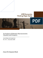 An Analysis of Pakistan's Macroeconomic Situation and Prospects