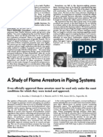 16.a Study of Flame Arrestors in Piping Systems
