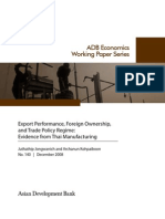 Export Performance, Foreign Ownership, and Trade Policy Regime