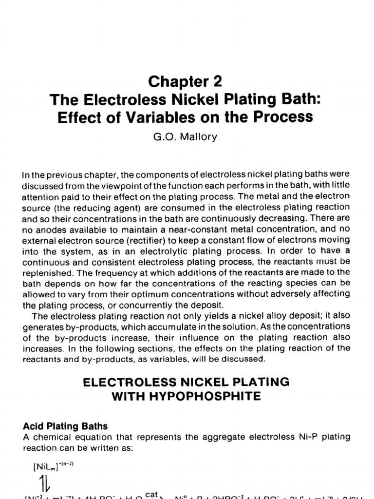 Electroless Plating Process | Buffer Solution | Coordination Complex