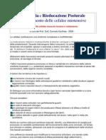 Osteopatia e Rieducazione Posturale Cefalee Miotensive - Prof Dott Carmelo Giuffrida