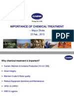 Importance of Chemical Treatment