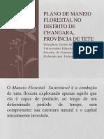 Plano de Maneio Florestal No Distrito de Changara.