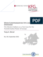 When Europeanization Hits Limited Statehood. The Western Balkans as a Test Case for the Transformative Power of Europe