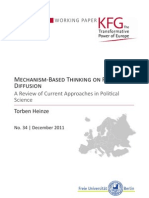 Mechanism-Based Thinking on Policy Diffusion. A Review of Current Approaches in Political Science