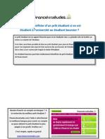 Peut-on bénéficier d'un prêt étudiant si on est étudiant à l'université ou étudiant boursier ?