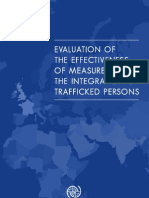 Evaluation of the Effectiveness of Measures for the Integration of Trafficked Persons