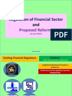 New regulation in Indian Financial Sector as per FSLRC