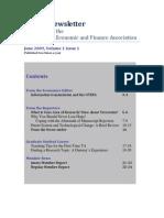 OTEFA Newsletter June 2009