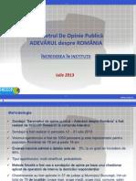 INSCOP Barometrul Opiniei Publice Iulie 2013 Increderea In Institutii.pdf
