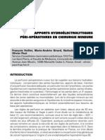 Apports hydroélectrolytiques péri-opératoires en chirurgie mineure