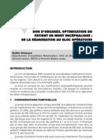 Don d'organes, optimisation du patient en mort encéphalique - de la réanimation au bloc opératoire