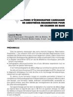 Imagerie pratique en échographie - notions d'échographie cardiaque en anesthésie-réanimation pour un examen de base
