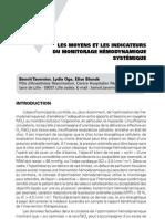 Les moyens et les indicateurs du monitorage hémodynamique systémique