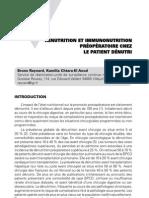 Renutrition et immunonutrition préopératoire chez le patient dénutri