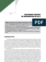 Traitement martial en réanimation en 2011