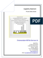 Process Safety Capability Studies