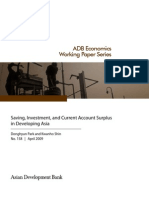 Saving, Investment, and Current Account Surplus in Developing Asia