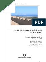 Informe Final Conservacion Emergencia 2008 Pachacamac