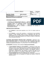 DIRETRIZES - Dto Adm II - Prof. Dr. Gustavo Justino - 2o Sem2010