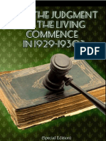 Does the Judgment of the Living Commence in 1929-1930 (Special Edition)