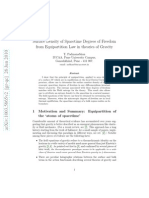 Surface Density of Spacetime Degrees of Freedom From Equipartition Law in Theories of Gravity1003.5665v2