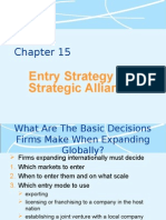 2000 Chp 15 Entry strategy and alliances.pptry Strategy and Alliances