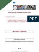 El epilasik como tratamiento en pacientes miopes con córenas