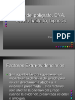 Uso Del Poligrafo, DNA, Retrato Hablado