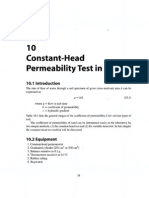 Constant-Head Permeability Test in Sand