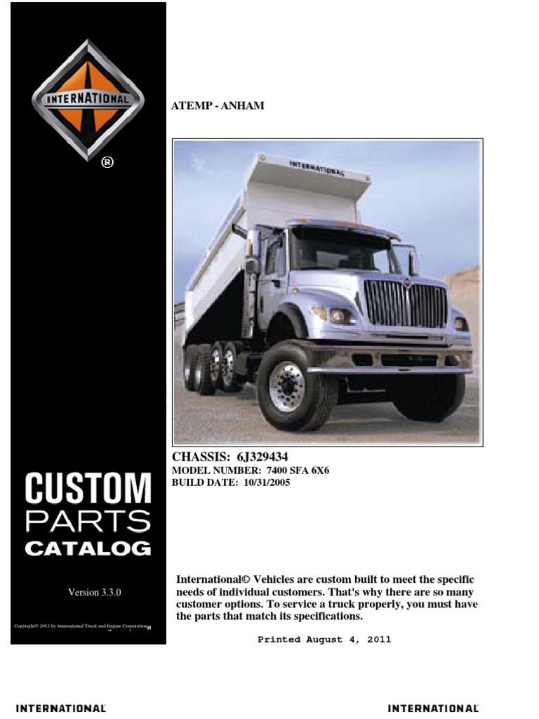 International 7400 Parts Manual 2006 | Axle | Transmission