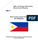 Peace Corps Host Country Impact Study The Philippines