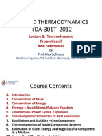 TDA 301T-8c - Thermodynamic Properties Real Substances