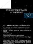 Significance of Insurance