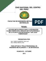 CIRCUITO DE FLOTACIÓN BULK