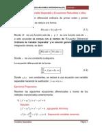 Ecuaciones Con Variable Separable y Ecuaciones Reducibles a Ellas