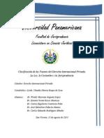 Informe Fuentes del Derecho Internacional Privado y su Clasificación
