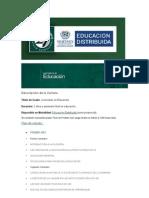 Programas Licenc. en Educ.
