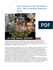Anura Senanayake's utterances betray the truths in Weliveriya murders –Those behind the dispatch of brutal army exposed